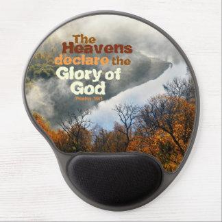 Psalm 19:1 Bible Verse Glory of God Gel Mousepad