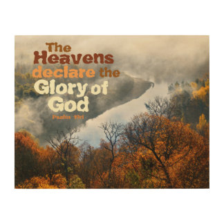 Psalm 19:1 Bible Verse Glory of God Wood Wall Art