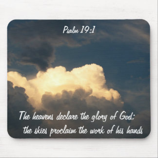 Psalm 19:1 Glory of GOD Mouse Pad