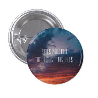 Psalm 19:1 Sunset 3 Cm Round Badge