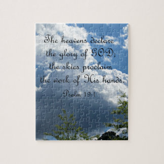 Psalm 19:1 The heavens declare the glory of God Jigsaw Puzzle