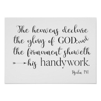 Psalm 19:1 Typography poster