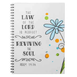 Psalm 19:7a The Law of the Lord is Perfect . . . Notebooks
