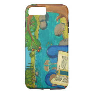 Psalm 1 in Hebrew Bible Jewish Christian Paintings iPhone 7 Plus Case