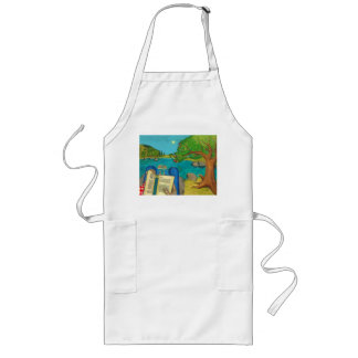 Psalm 1 in Hebrew Bible Jewish Christian Paintings Long Apron