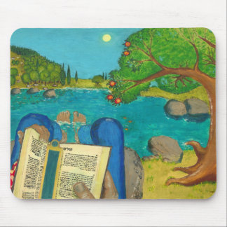 Psalm 1 in Hebrew Bible Jewish Christian Paintings Mouse Pad