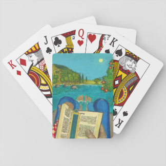 Psalm 1 in Hebrew Bible Jewish Christian Paintings Poker Deck