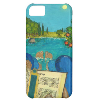 Psalm 1 - Man reads Psalm 1 in Hebrew Bible iPhone 5C Cover