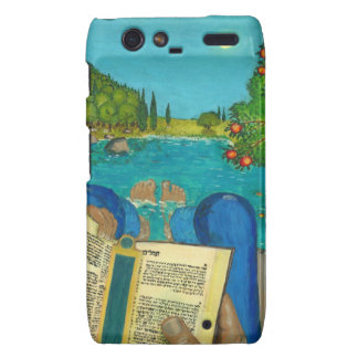 Psalm 1 - Man reads Psalm 1 in Hebrew Bible Droid RAZR Covers