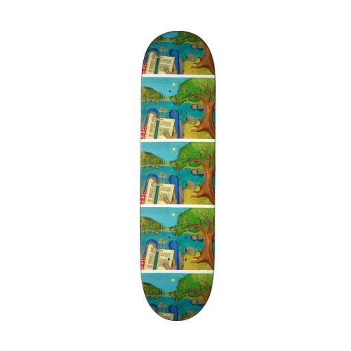 Psalm 1 - Man reads Psalm 1 in Hebrew Bible Skateboard Deck