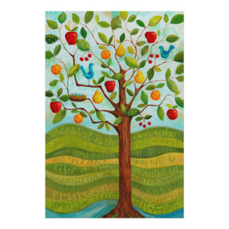 Psalm 1 Tree Planted by Rivers of Water Print