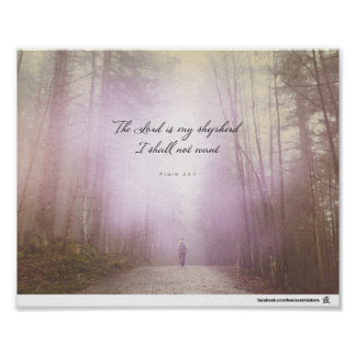 Psalm 23:1 - The Lord is my shepherd Poster