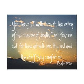 Psalm 23:4 bible verse canvas print