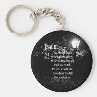 Psalm 23:4  Bible Verse Custom Christian Gift Key Ring