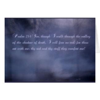 Psalm 23:4 card