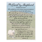 Psalm 23 Bible Verse, Irish Sheep Field Postcard