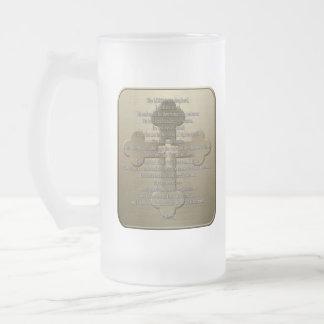Psalm 23 - Bronze Frosted Glass Mug