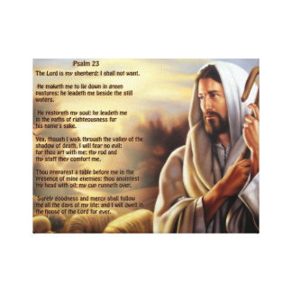 Psalm 23 canvas print