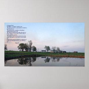Psalm 23, Farm Pond poster