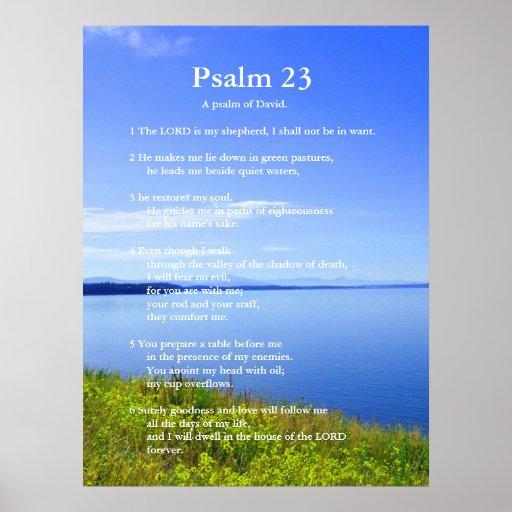 Psalm 23 Grand Teton National Park Posters