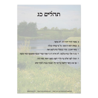 Psalm 23 in Hebrew only Poster