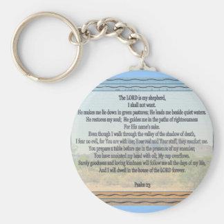 Psalm 23 key chain