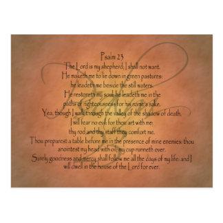 Psalm 23 KJV Christian Bible Verse Postcard
