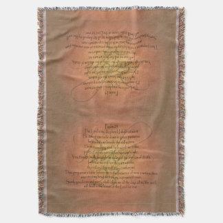 Psalm 23 KJV Christian Bible Verse Religious Throw Blanket