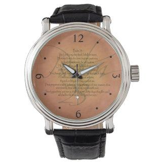 Psalm 23 KJV Christian Bible Verse Wrist Watch