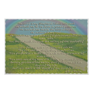 Psalm 23  The Lord is My Sheperd POSTER BIBLE
