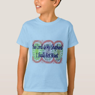 """Psalm 23, """"The Lord is my Shepherd"""" T-Shirt"""