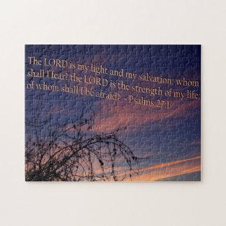 Psalm 27:1 at Dawn Jigsaw Puzzle