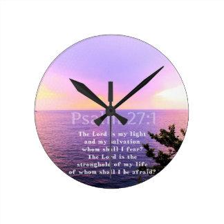 Psalm 27:1 INSPIRATIONAL BIBLE VERSE Clock