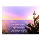 Psalm 27:1 INSPIRATIONAL BIBLE VERSE Postcard