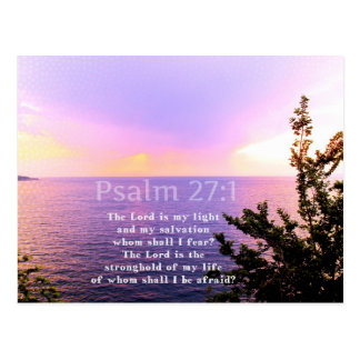 Psalm 27:1 INSPIRATIONAL BIBLE VERSE Postcard