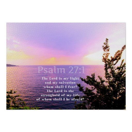 Psalm 27:1 INSPIRATIONAL BIBLE VERSE Poster