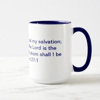 Psalm 27:1 Ringer Mug