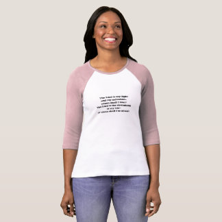Psalm 27 Courage Salvation Ladies T-Shirt