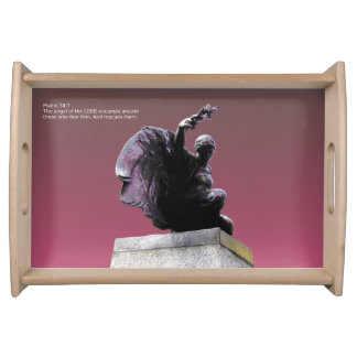Psalm 34.7 the angel of the Lord, small. Serving Trays