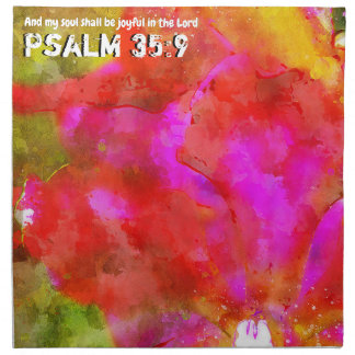 Psalm 35:9 napkin