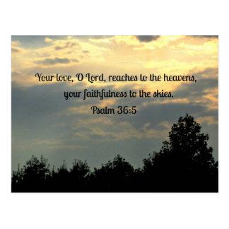 Psalm 36:5 postcard