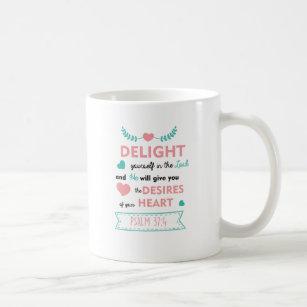 Psalm 37:4 Bible Verse Christian Coffee Mug