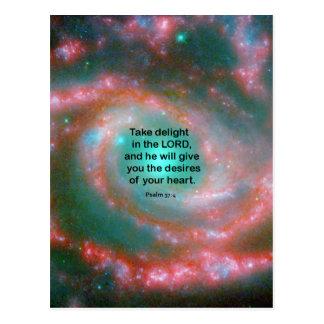 Psalm 37:4 postcard