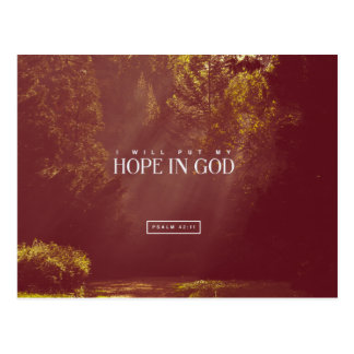Psalm 42:11 - I put my hope in GOD Postcard