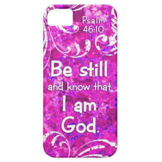 Psalm 46:10 Be Still and Know - Bible Verse Quote iPhone 5 Covers