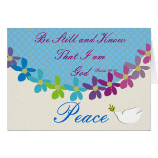 Psalm 46:10 Be Still and Know I am God Notecards Card