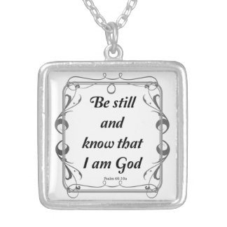 PSALM 46-10 SILVER PLATED NECKLACE