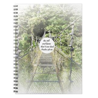 Psalm 46: 10 spiral notebook