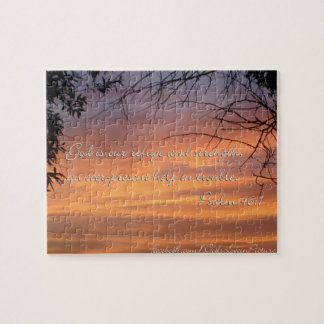 Psalm 46:1 God is our refuge & strength... Jigsaw Puzzle