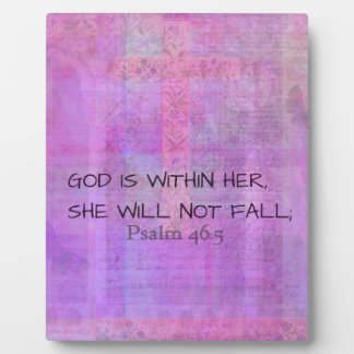 Psalm 46:5 God is within her, she will not fall Plaque